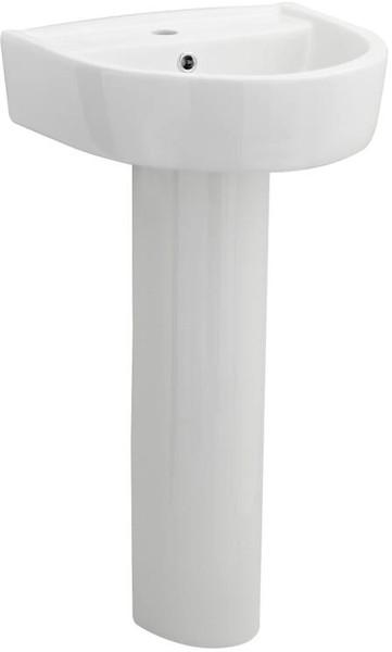 Additional image for Basin & Full Pedestal (1 Tap Hole, 420mm).