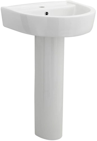 Additional image for Basin & Full Pedestal (1 Tap Hole, 520mm).