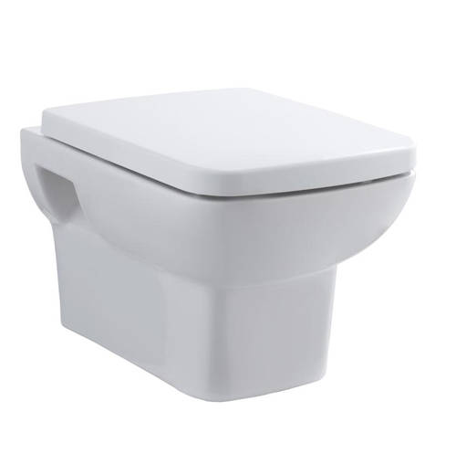 Additional image for Wall Hung Toilet Pan, Frame & Luxury Seat.