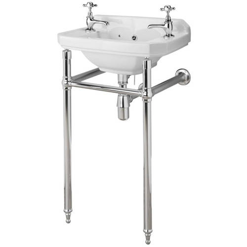 Additional image for Traditional Washstand 745x465x368mm (Chrome).