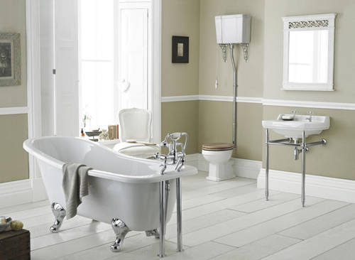 Additional image for Traditional Washstand & Cloakroom Basin (2 Hole).