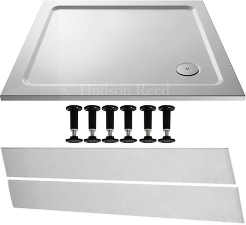 Additional image for Easy Plumb Rectangular Shower Tray. 900x800x40mm.