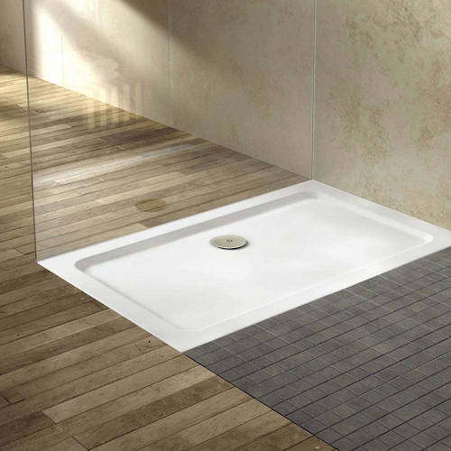 Additional image for Rectangular Shower Tray 1300x800mm (Gloss White).