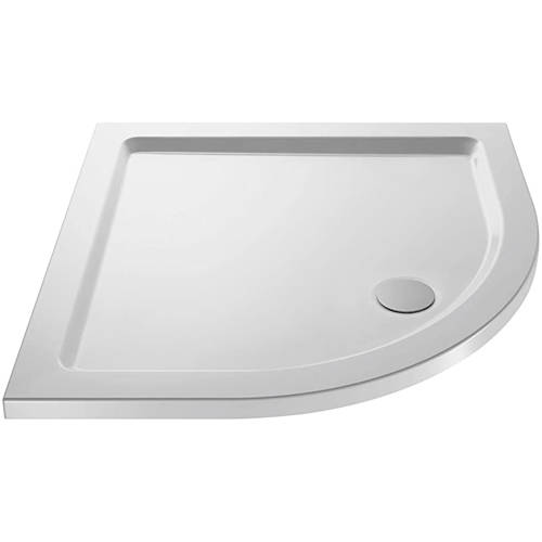 Additional image for Quadrant Shower Tray 700x700mm (Gloss White).