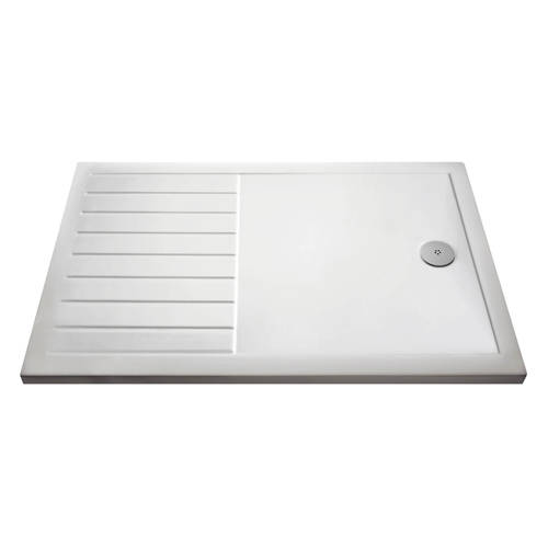 Additional image for Wetroom Rectangular Shower Tray 1600x800mm (Gloss White).