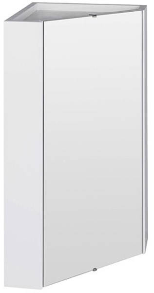 Additional image for Corner Mirror Cabinet (459mm, White).