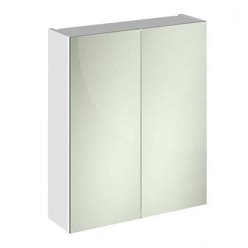 Additional image for 2 Door Mirror Cabinet 600mm (Gloss White).