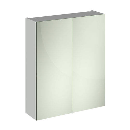 Additional image for 2 Door Mirror Cabinet 600mm (Gloss Grey Mist).