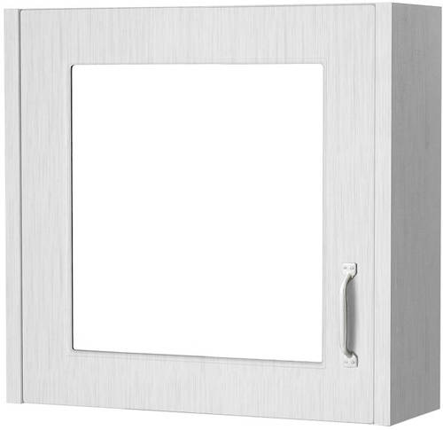 Additional image for Mirror Bathroom Cabinet 600mm (White).