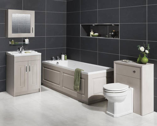 Additional image for Mirror Bathroom Cabinet 600mm (Grey).
