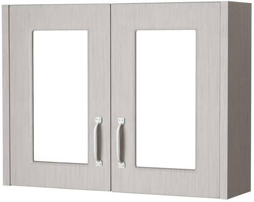 Additional image for 2 Door Mirror Bathroom Cabinet 800mm (Grey).