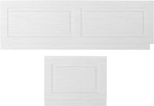 Additional image for Front Bath Panel 1700mm & End Panel 700mm (White).
