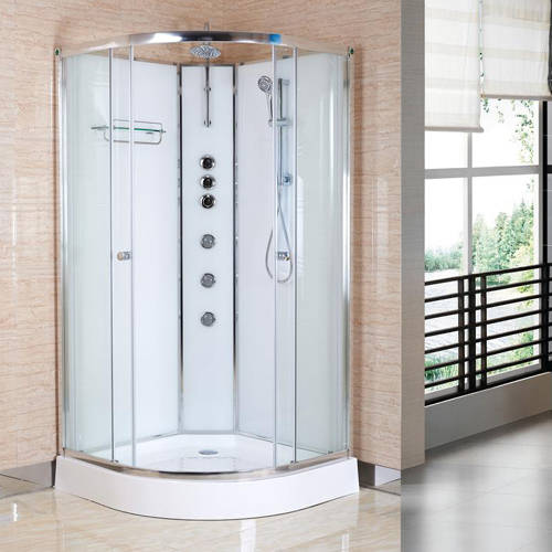 Additional image for Quadrant Shower Cabin 800x800mm (White).
