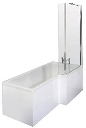 Additional image for Square Shower Bath With Panels & Screen (RH).