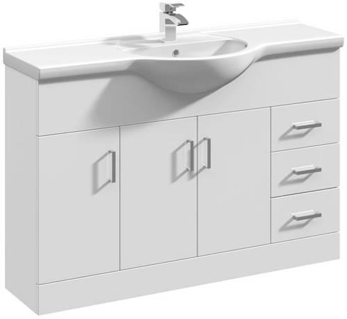 Additional image for Vanity Unit & Ceramic Basin Type 1 (1200mm, White).