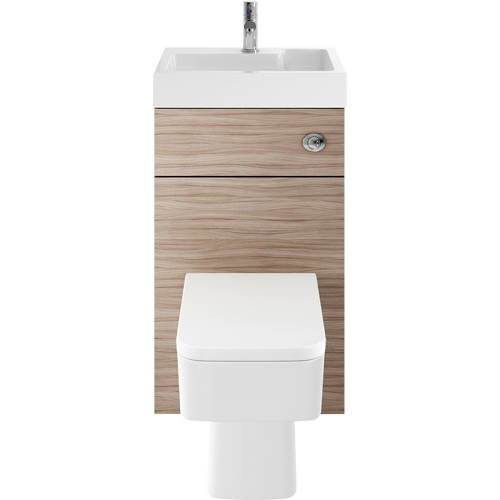Additional image for 2 In 1 BTW Unit With Basin & Cistern 500mm (Driftwood).