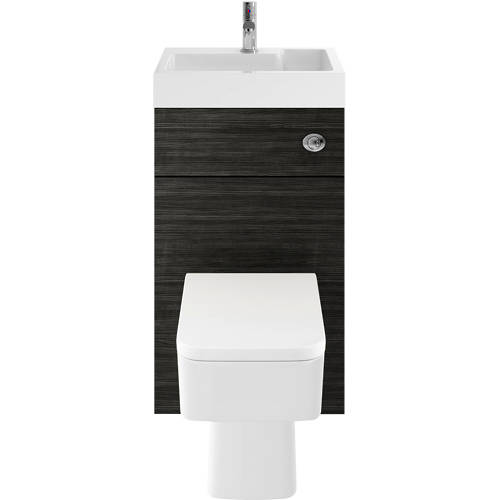 Additional image for 2 In 1 BTW Unit With Basin & Cistern 500mm (Hacienda Black).