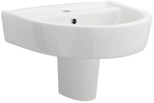Additional image for Flush To Wall Toilet With 520mm Basin & Semi Pedestal.
