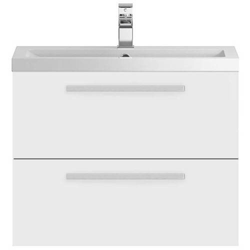 Additional image for Wall Vanity Unit & Basin 720mm (Gloss White).