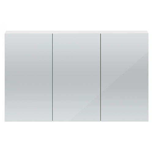 Additional image for 3 Door Mirror Cabinet 1350mm (Gloss White).