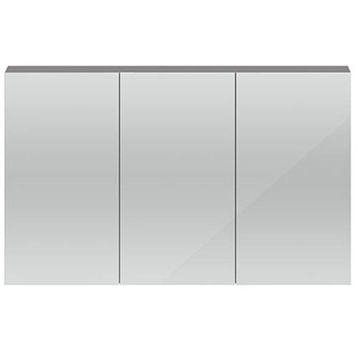 Additional image for 3 Door Mirror Cabinet 1350mm (Gloss Grey).