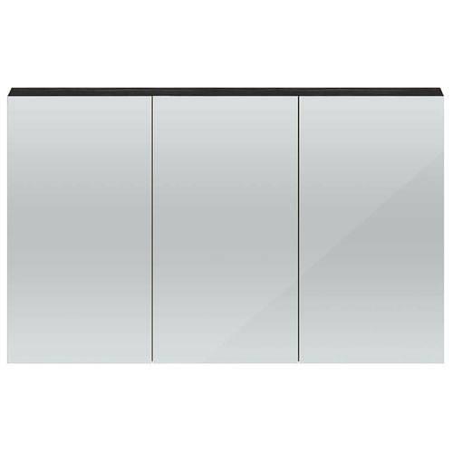 Additional image for 3 Door Mirror Cabinet 1350mm (Hacienda Black).