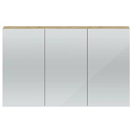 Additional image for 3 Door Mirror Cabinet 1350mm (Natural Oak).