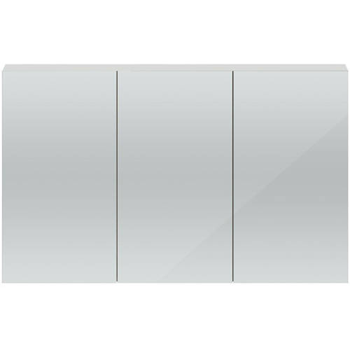 Additional image for 3 Door Mirror Cabinet 1350mm (Gloss Grey Mist).