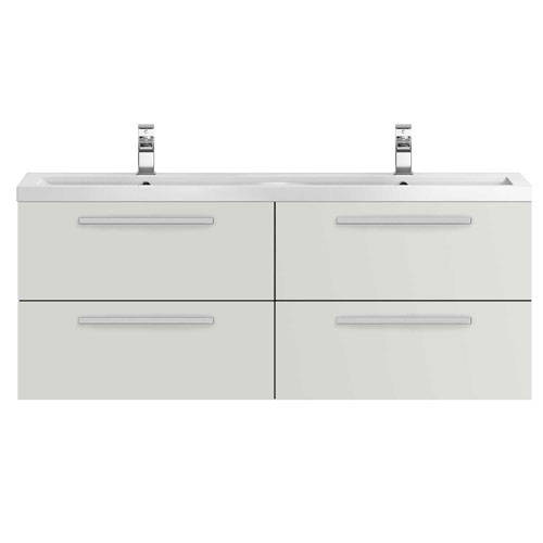 Additional image for Wall Vanity Unit & Double Basin 1440mm (G Mist).