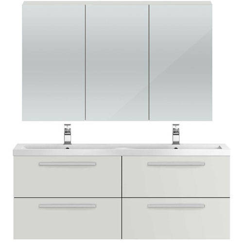 Additional image for Wall Hung Vanity Unit Pack With Cabinet (Grey Mist).