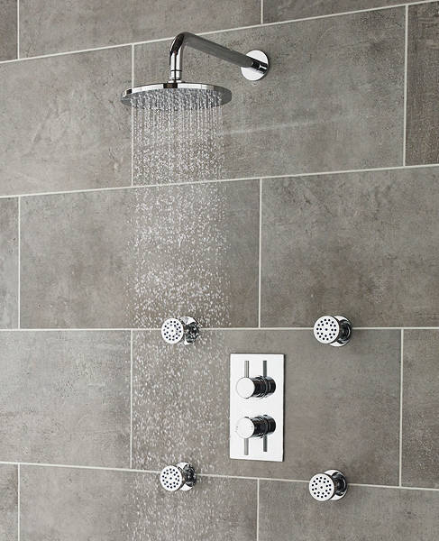 Additional image for Quest Thermostatic Shower Valve, Head, Arm & Body Jets.