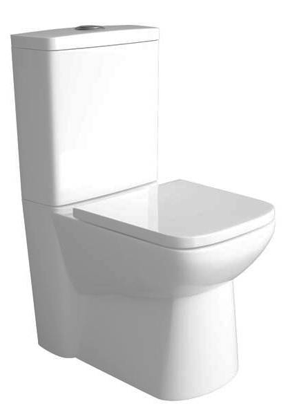 Additional image for Compact Flush To Wall Toilet With 450mm Basin & Pedestal.
