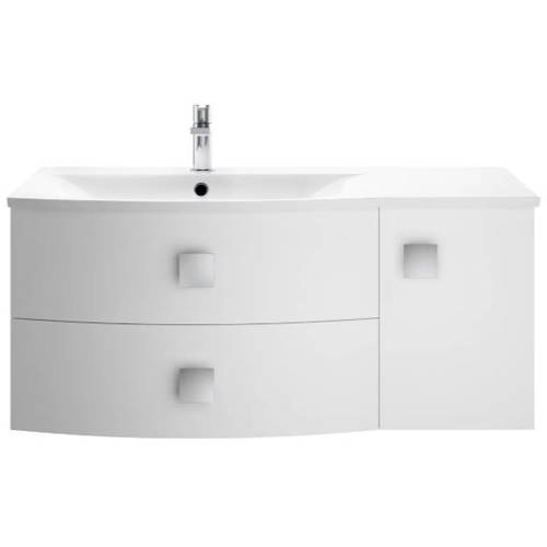 Additional image for Wall Hung 1000mm Cabinet & Basin LH (Moon White).