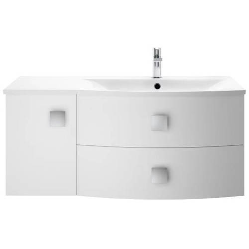 Additional image for Wall Hung 1000mm Cabinet & Basin RH (Moon White).