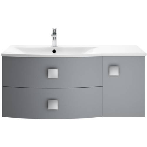 Additional image for Wall Hung 1000mm Cabinet & Basin LH (Dove Grey).