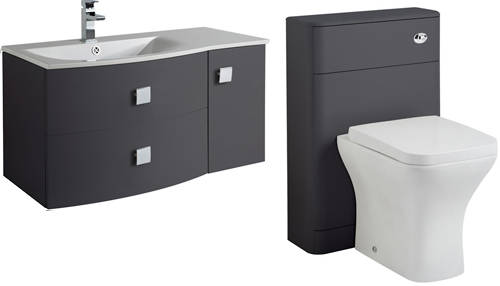 Additional image for Bathroom Furniture Pack 2 (LH, Graphite)
