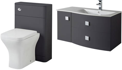 Additional image for Bathroom Furniture Pack 3 (RH, Graphite)