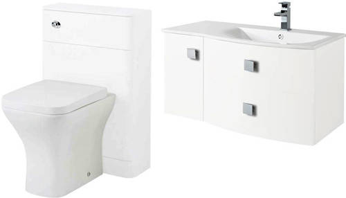 Additional image for Bathroom Furniture Pack 3 (RH, White)