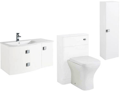 Additional image for Bathroom Furniture Pack 5 (LH, White)