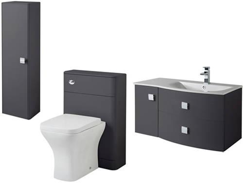 Additional image for Bathroom Furniture Pack 6 (RH, Graphite)