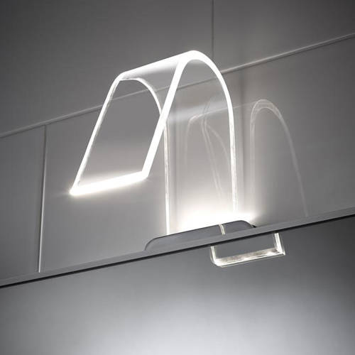Additional image for Curved LED Over Mirror Light Only (Warm White).
