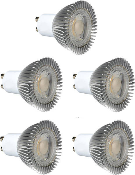 Additional image for 5 x GU10 5W Dimmable COB LED Lamps (Warm White).