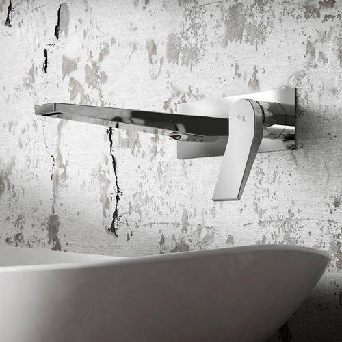 Additional image for Wall Mounted Basin Mixer Tap With Lever Handle (Chrome).
