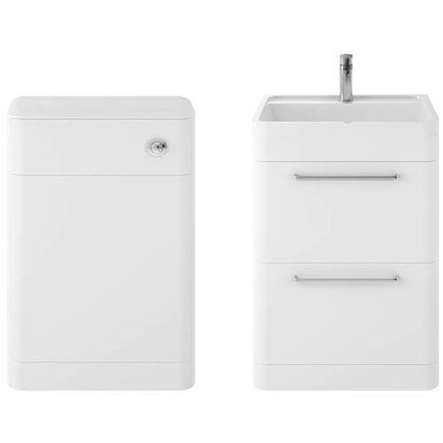 Additional image for Floor Standing 600mm Vanity Unit & BTW Pack (Pure White).