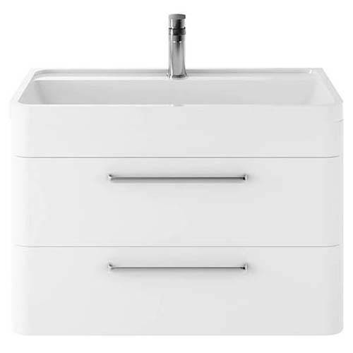 Additional image for Wall Hung Vanity Unit & Basin 800mm (Pure White).