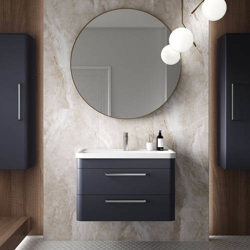 Additional image for Wall Hung 600mm Vanity Unit, BTW & Tall Unit (Blue).