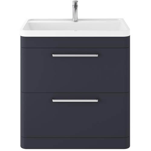 Additional image for Floor Standing Vanity Unit & Basin 800mm (Indigo Blue).