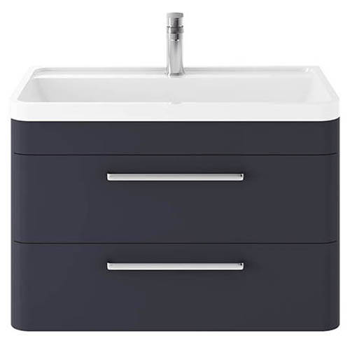 Additional image for Wall Hung Vanity Unit & Basin 800mm (Indigo Blue).