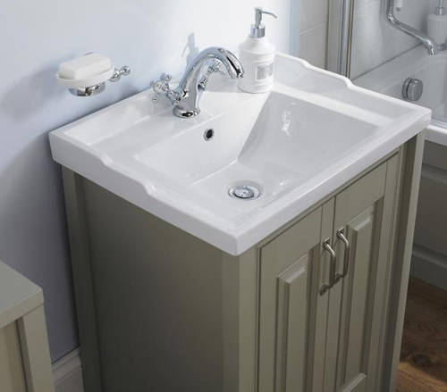 Additional image for 800mm Vanity & 600mm WC Unit Pack (Stone Grey).