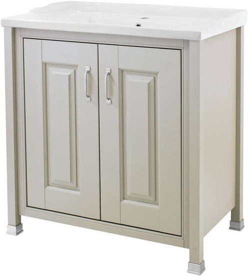 Additional image for 800mm Vanity & Mirror Cabinet Pack (Stone Grey).